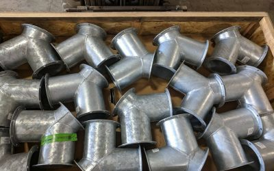 Hot Dipped Galvanized 12″ Round 7GA Y Branch