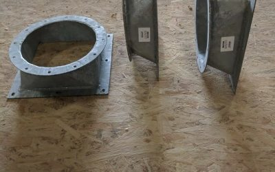 Hot Dipped Galvanized 7GA Square to Round Reducers