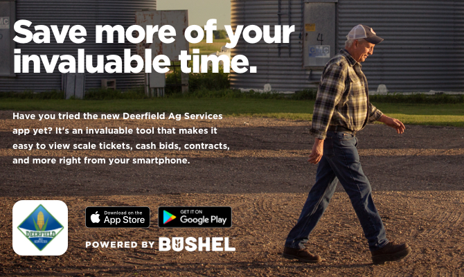 Download the Deerfield Ag Services App, Powered by Bushel